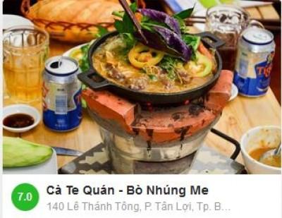 Cà Te Quán - Bò Nhúng Me