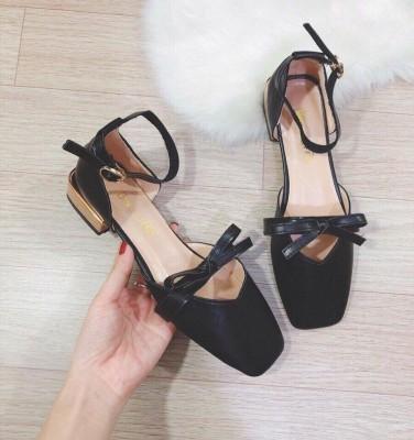 Giày búp bê gót vuông