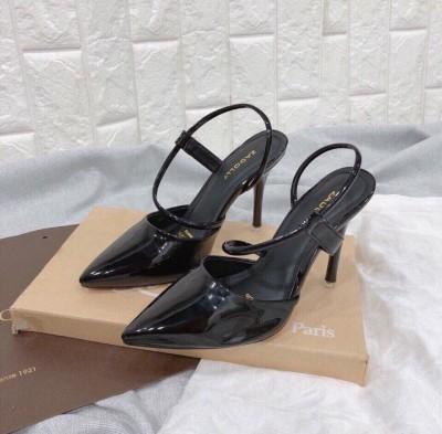 Giày cao gót da bóng cao 8 phân | giày ăn gian chiều cao