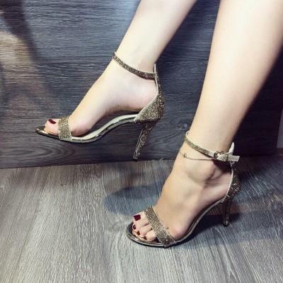 Giày gót cao kim tuyến 9cm
