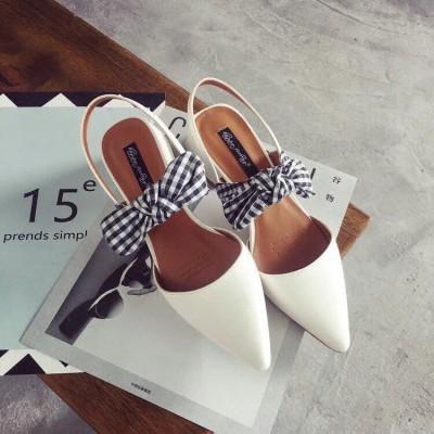 Giày cao gót nơ xếp 3cm - ship hàng toàn quốc
