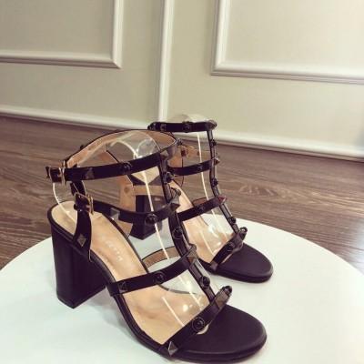 Giày gót vuông cao 6cm
