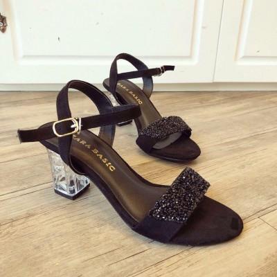 Giày đế vuông 5cm