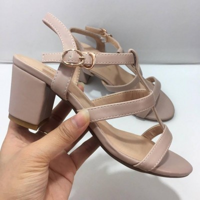 giày sandal quai ngang gót trụ